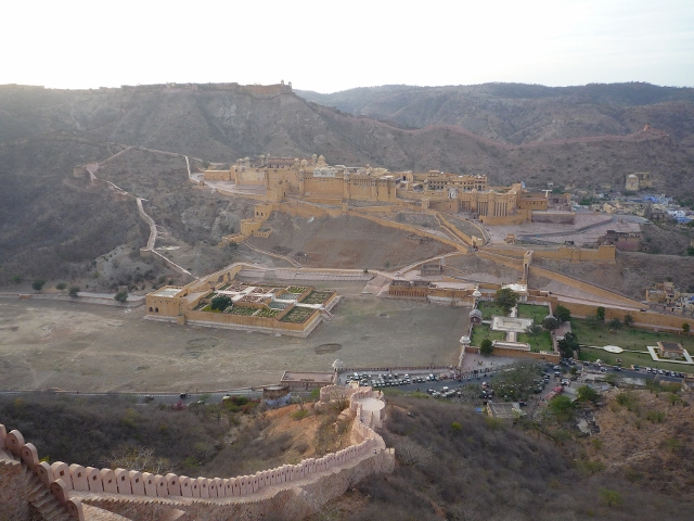 Fort d`Amber vu du haut de la muraille